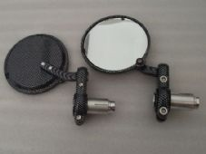 Bar end mirrors carbon pattern fits 99% of bikes x2